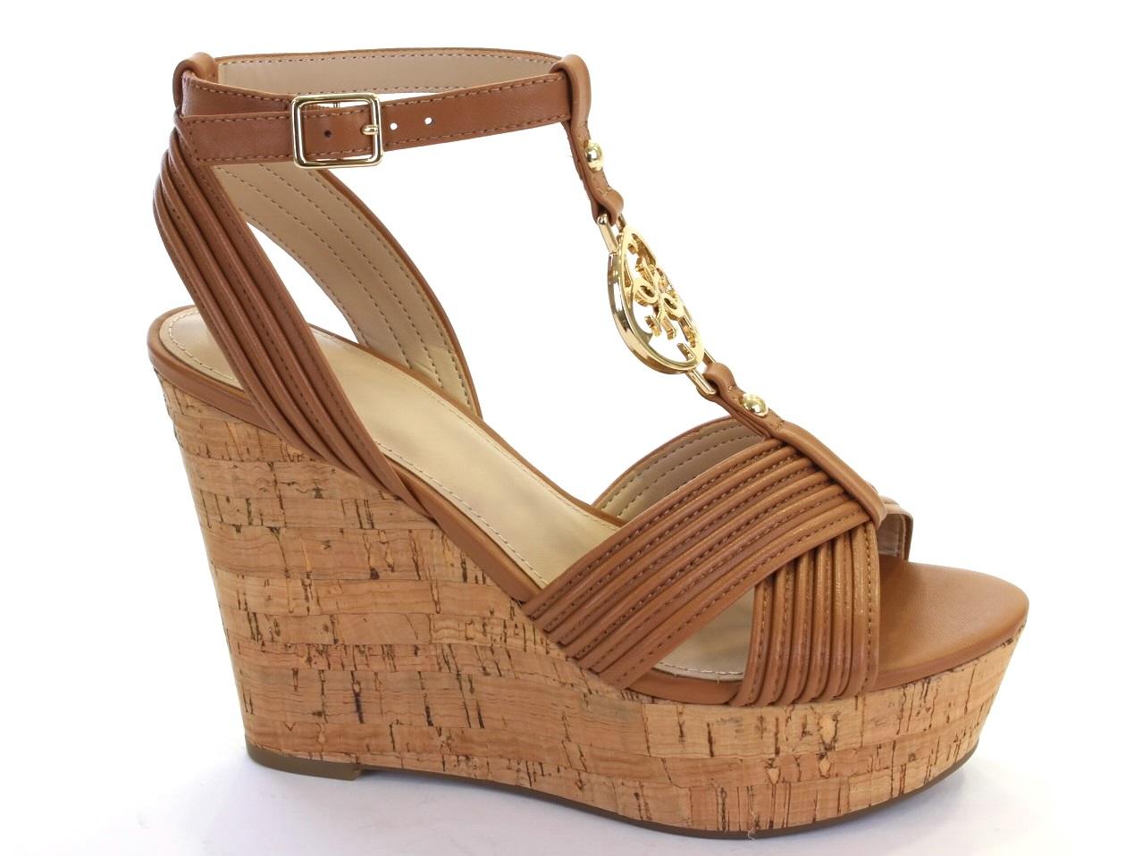 Sandálias de Cunha Guess - 465 FLGIL1 LEA03