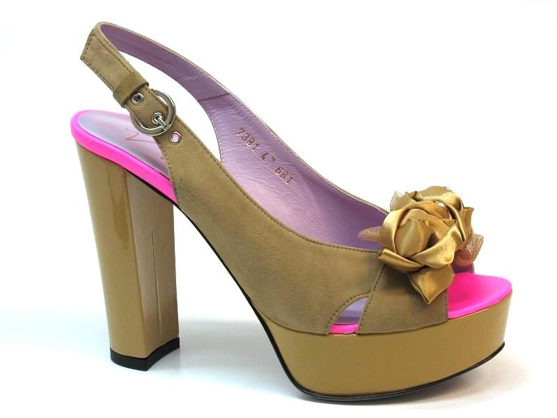 Sandálias de Salto Vannel - 0017391