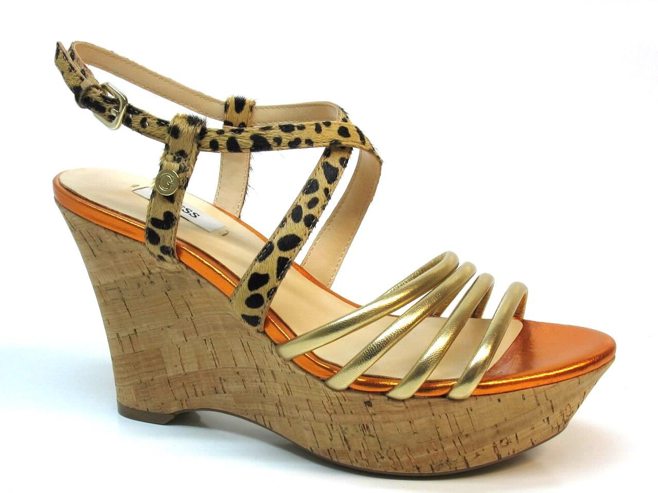 Sandálias de Cunha Guess - 465 FL2WAELEM04