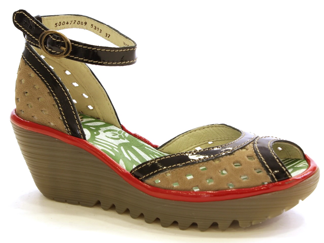 Wedge Shoes Fly London - 339 YDEL PERF