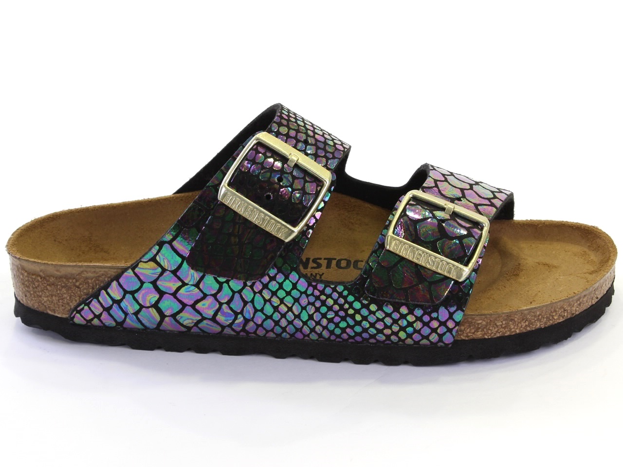 Flat Sandals Birkenstock - 663 ARIZONA SHINY