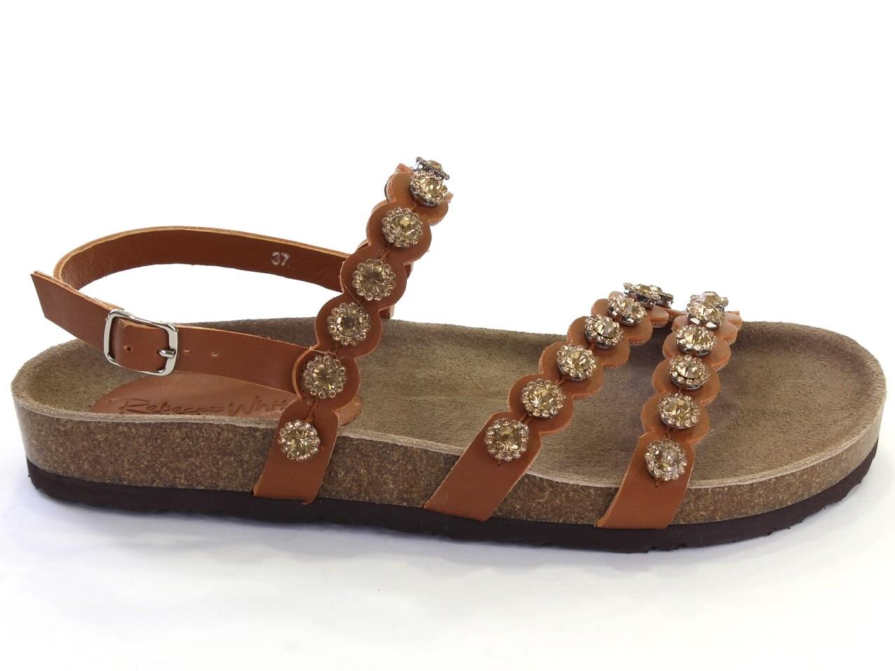 Flat Sandals Rebecca White - 649 SRW781