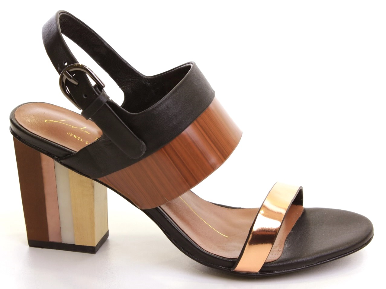 Sandálias de Salto Lola Cruz - 622 262Z15BK