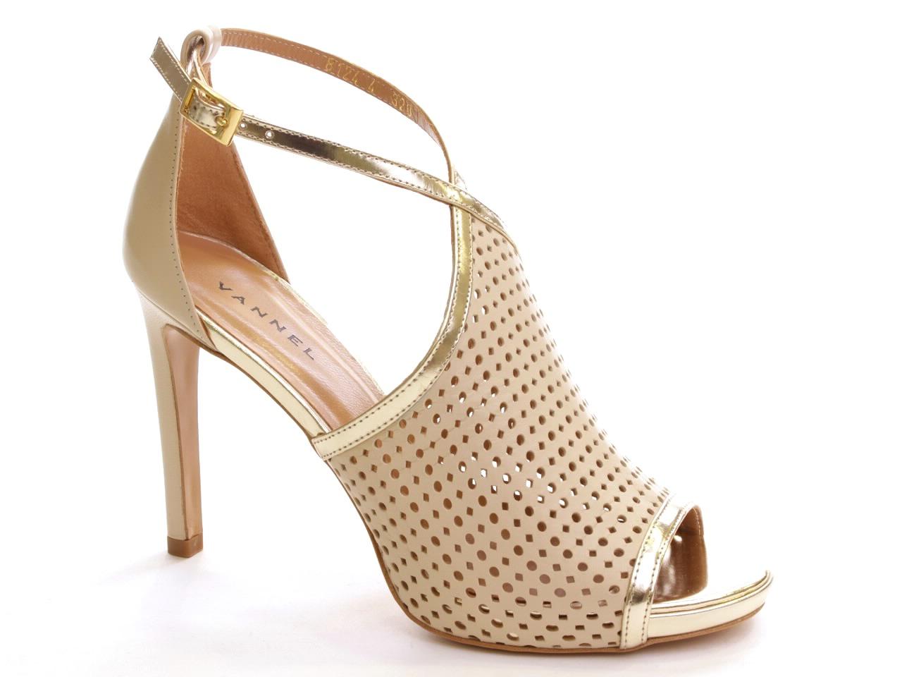 Sandálias de Salto Vannel - 001 8124
