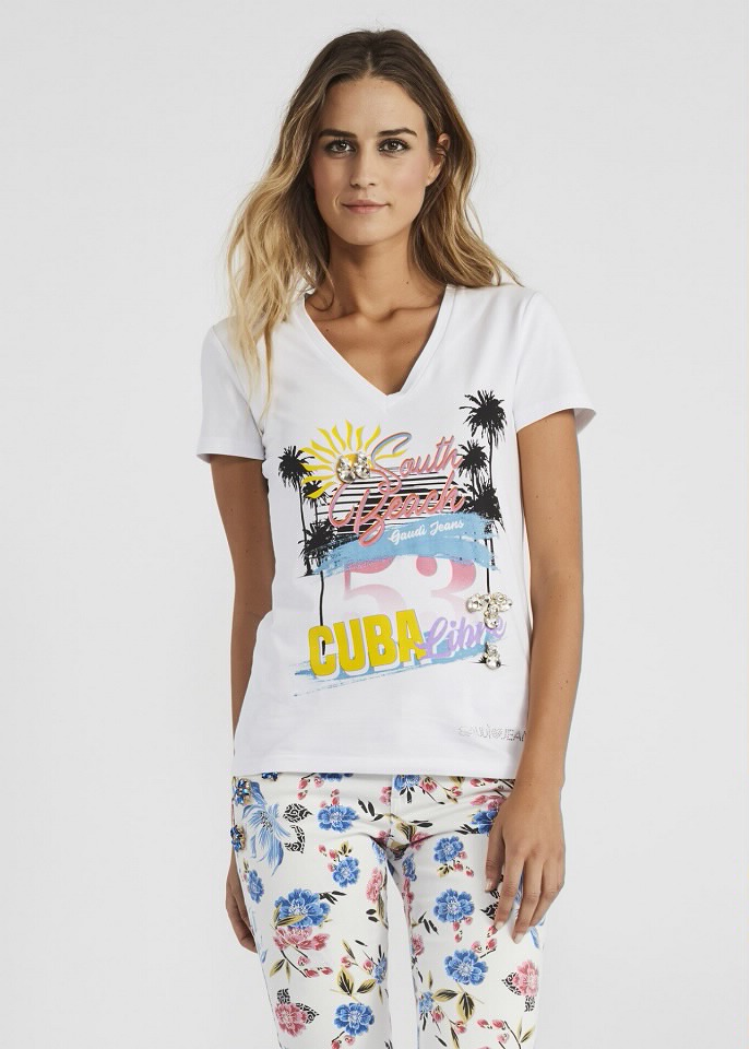 T-shirts, Tops, Túnicas, Blusas Gaudi Jeans - 628M 911BD64049